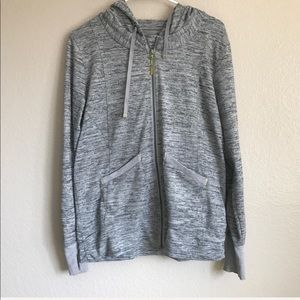 Athleta No Sweatin It Zip Up Hoodie in Gray Large